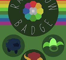 Rainbow Badge - Kanto Region - Pokemon by H-Driscolls