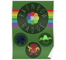 Rainbow Badge - Kanto Region - Pokemon Poster