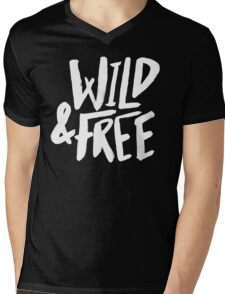 Wild and Free II Mens V-Neck T-Shirt