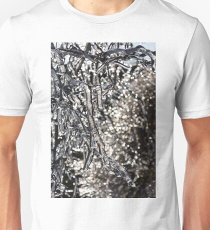 Christmas Decorations by Mother Nature - Encapsulated Branches and Brilliant Bokeh Unisex T-Shirt