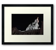 City Night Walks - Manhattan Municipal Building, a  Beaux-Arts Jewel Framed Print