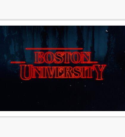 Boston University Stranger Things Sticker