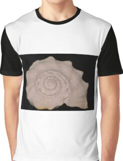 white conch shell Graphic T-Shirt