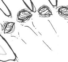 Swirly Eye Hands Sticker