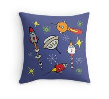 Space ships Throw Pillow