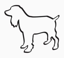 Dog Outline Cocker Spaniel Gifts One Piece - Short Sleeve