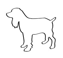 Dog Outline Cocker Spaniel Gifts by 8milesfromhome