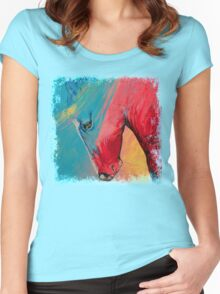 Painted Horse Women's Fitted Scoop T-Shirt