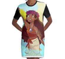 The Ocean Princess Moana Graphic T-Shirt Dress