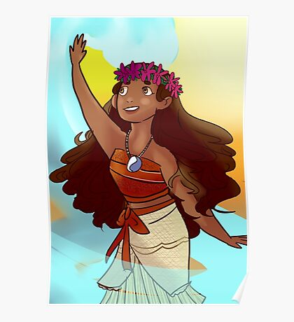 The Ocean Princess Moana Poster