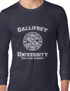 Gallifrey University Time Lord Academy white Long Sleeve T-Shirt