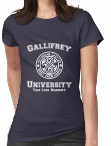 Gallifrey University Time Lord Academy white Womens Fitted T-Shirt