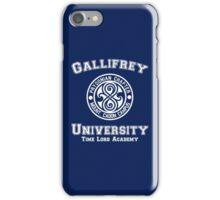 Gallifrey University Time Lord Academy white iPhone Case/Skin