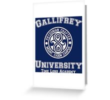 Gallifrey University Time Lord Academy white Greeting Card