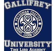 Gallifrey University Time Lord Academy white Photographic Print