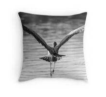 Graceful Heron Throw Pillow