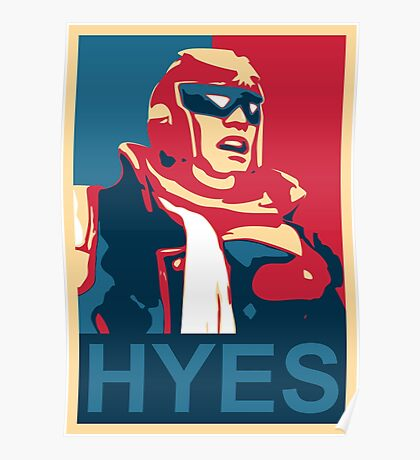 HYES! - Captain Falcon Poster Poster