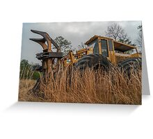 Forestry feller buncher  3 Greeting Card
