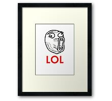 MEME: LOL Framed Print