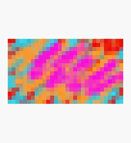 pink blue orange and red pixel abstract background Photographic Print