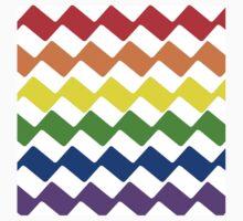 Rainbow Chevron Pattern  Kids Tee