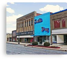 Smith Drugs and Hickory Furniture Outlet Canvas Print