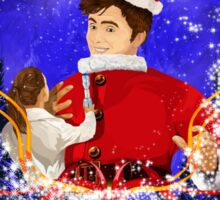 10th Doctor celebrate Christmas Sticker