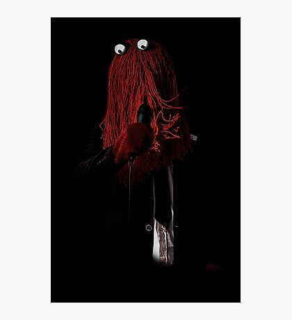 Red guy Photographic Print