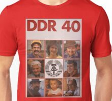 DDR 40, 40 years East Germany, Propaganda Poster 1989 Unisex T-Shirt