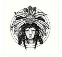 american indian girl Art Print