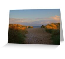 Sunset and Set Sand......!! Greeting Card