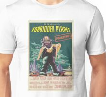 Forbidden Planet - 1956 Science Fiction Movie Poster Unisex T-Shirt