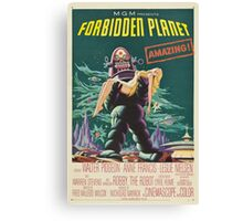 Forbidden Planet - 1956 Science Fiction Movie Poster Canvas Print