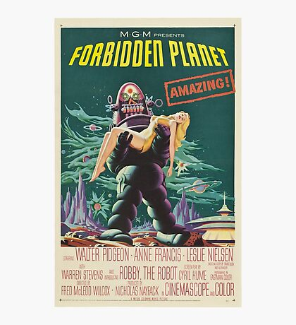 Forbidden Planet - 1956 Science Fiction Movie Poster Photographic Print