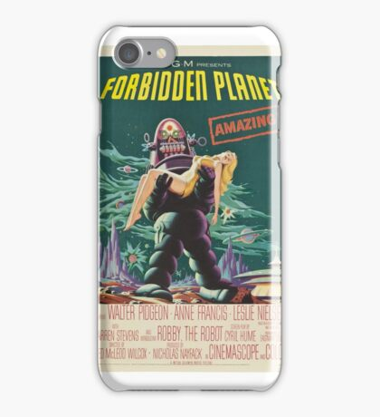 Forbidden Planet - 1956 Science Fiction Movie Poster iPhone Case/Skin