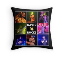 David Duchovny Rocks Throw Pillow