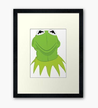 Kermit is Not Amused Framed Print