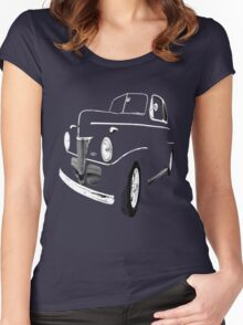 1941 Ford, Black on Black Women's Fitted Scoop T-Shirt
