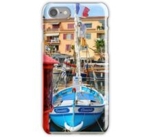 Traditional boats in port of Sanary-sur-Mer , Var, France iPhone Case/Skin
