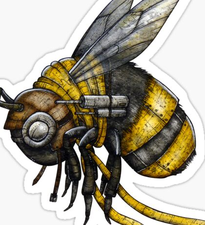 Bumblebee Shirt (Light Background) Sticker