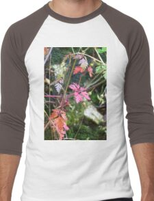 colorful leaves in the forest Men's Baseball ¾ T-Shirt