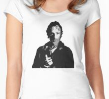 The Walking Dead - Rick Grimes Profile Women's Fitted Scoop T-Shirt