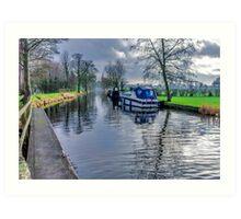 On The Canal Ripon Art Print