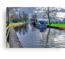 On The Canal Ripon Canvas Print