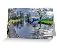 On The Canal Ripon Greeting Card