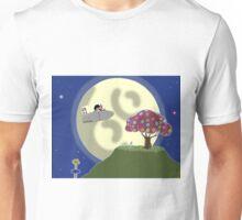 Rainbow Flower Tree in the Moon Unisex T-Shirt