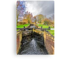 The Lock  Ripon Canal Metal Print