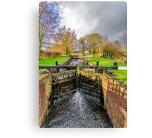 The Lock  Ripon Canal Canvas Print