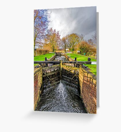 The Lock  Ripon Canal Greeting Card