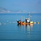 Slippery Dick Fishing Boat At Lyme by lynn carter